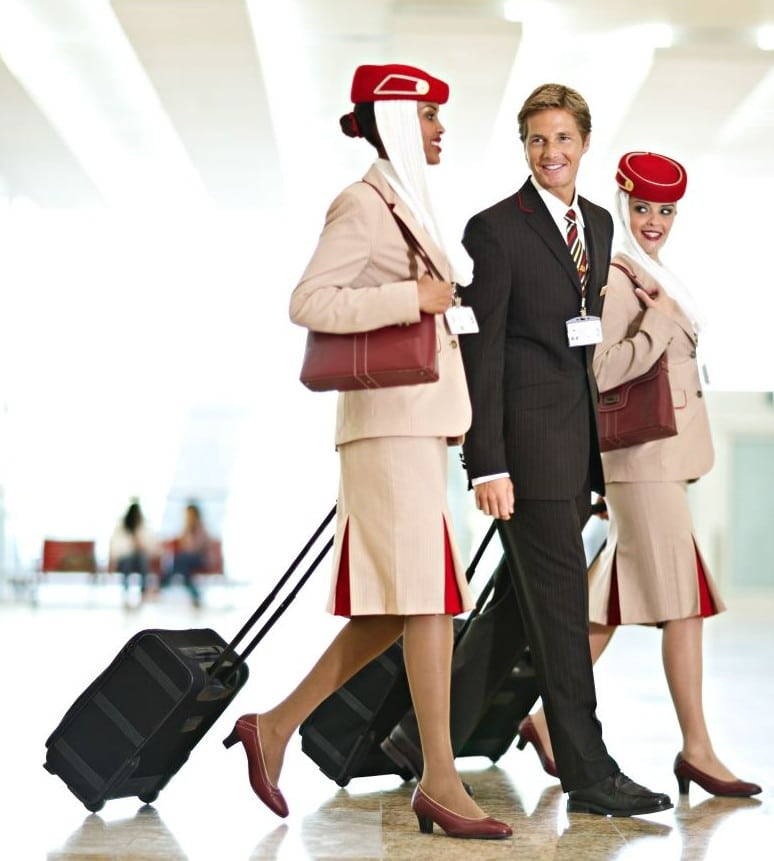 05 - Cabin crew walking thr airport