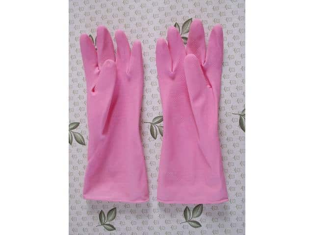 Pink latex gloves and breast cancer