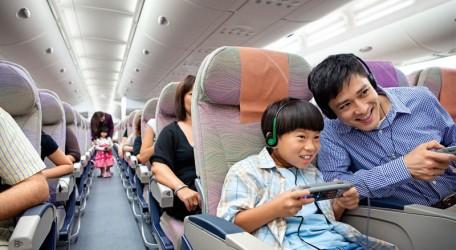00 - Passengers enjoying Emirates ice entertainment system