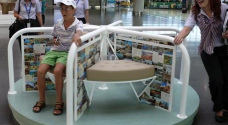 20120709 - Two Maltese artists exhibiting at Larnaka International Airport - Merry-go-round - 1b