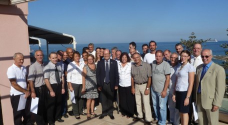 Associates who have been working at The Westin Malta for 15 years accompanied by General Manager Micael Kamsky