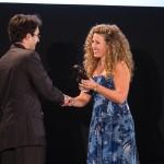Tamara Jane Caruana (Managing Director, Castello dei Baroni) presents the trophy of Best Local Animation to Martin Bonnici