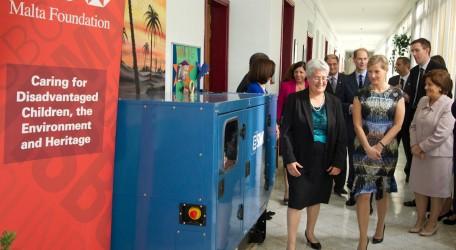 128 - Royals inaugurate HSBC sponsored equipment at Helen Keller Centre in Qrendi - 01