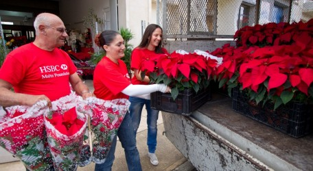 20121207 - HSBC Malta employees sell over 2000 Poinsettas for charity - 01