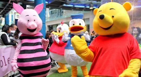 Cartoon characters at Bay Street