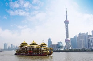 16 - Emirates - Shanghai Skyline & Dragon boat