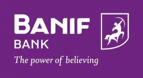 BANIF logo purple background