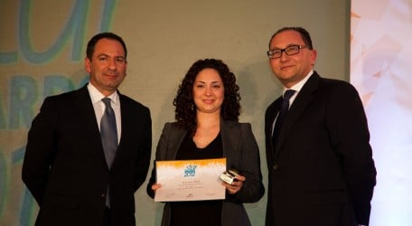 Ms Veronica Ellul Receiving her award