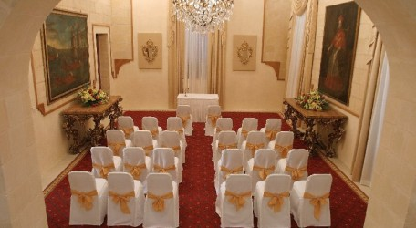 Civil ceremony at Palazzo Capua