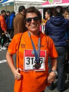 Sylvana Calleja, a Vodafone employee who did the Walkathon.