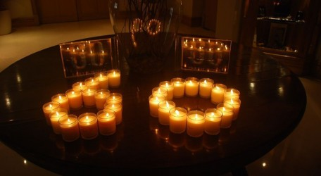 Candles Lit by Hotel guests