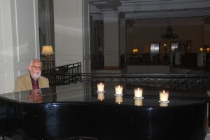 Pianist Edmund Zarb during Earth hour