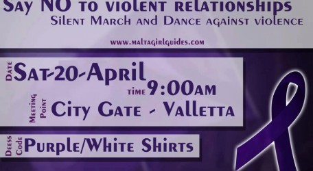 Say no to violent relationships Silent march and dance against violence