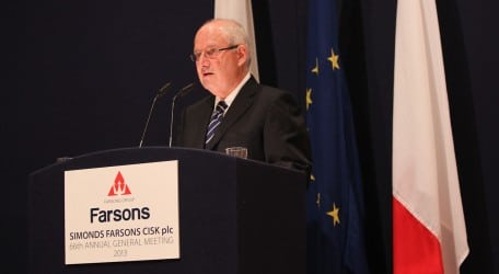 20130620 - Farsons Group Chairman Louis A Farrugia addressing the shareholders - BC5Q0144