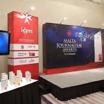 IGM MJA 2013 awards and backdrop