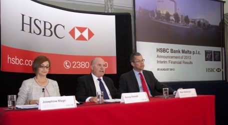 89 - HSBC Malta - half-yearly results for 2013 - press release - 5 Aug