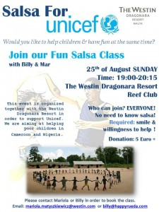 Salsa for Unicef_poster