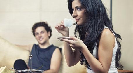 Drinking Coffee at Kudeta Lounge and bar by Kurt Paris