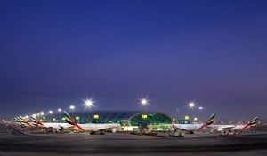 100 - Emirates -Terminal 3 at dawn