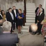 Austrian Ambassador Petra Schneebauer speaking to the guests