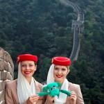Oggie at the Great Wall o fChina