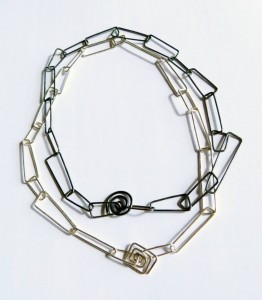 Nancye Church 'Standing Stone' Chain chokers in sterling silver