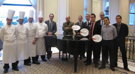 General Manager Michael Camilleri Kamsky and Director of Operations Jonathan Borg togehther with The Westin chefs and Food and Beverage Managers