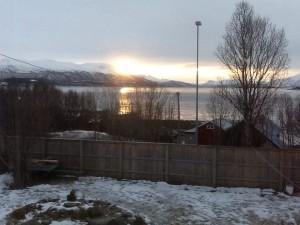 Sunrise over a Norwegian mountain