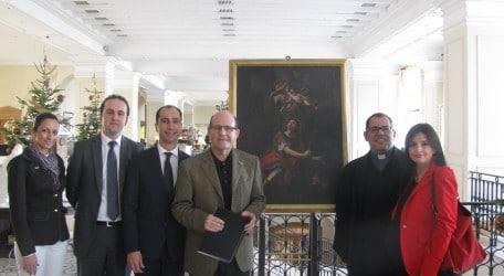 left to right Josette Fenech, Jonathan Borg, Edward Bonello Michael Camilleri Kamsky, Priest Fr Claude Portelli , Erika Falzon
