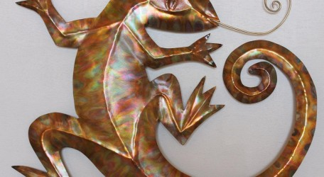 Jackie Roberts copper 'Lizard Critter'