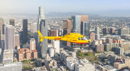 pr dhl LA helicopter service