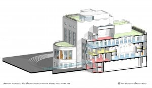 04b - Section through Old Brewhouse showing spaces for mixed use  - 20150529