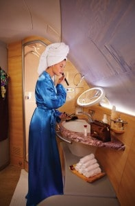 Emirates A380 exclusive Shower Spa for First Class