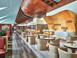 Emirates Business Class lounge at Dubai Int Airport - 4