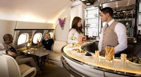 13 - New Emirates A380 Onboard Lounge