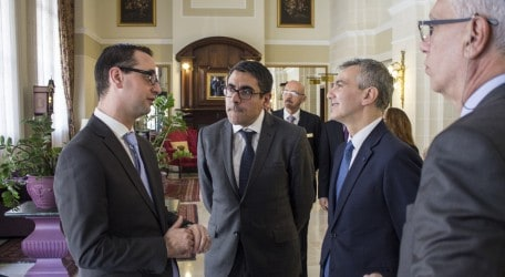 12. Dr Simon Busuttil visits the newly refurbished Victoria Hotel
