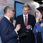 Ivan Grech, HSBC Malta CEO Andrew Beane, Mariella Xuereb