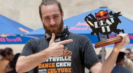 Participant perform Red Bull Beat it Malta  2017