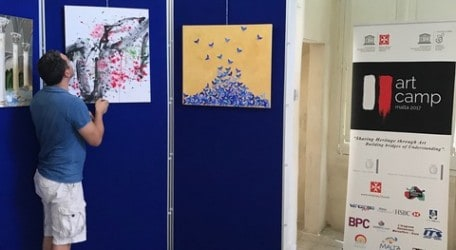 UNESCO Art Camp Malta exhibition