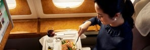 65 - Dining on Emirates - the world's largest flying restaurant - 6-1