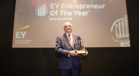 Angelo Xuereb Awarded the EY Malta Entrepreneur of the Year
