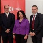 Commercial Banking Head Michel Cordina, Commercial Banking Marketing Manager Nathalie Camilleri-Sultana, Country Head of Business Banking Gordon Scicluna, all from HSBC