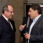HSBC Malta Commercial Banking Head Michel Cordina, Etienne Bartolo of Marsa Rebar Ltd